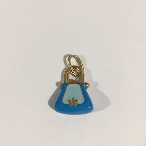 Jewelry - 14k Yellow Gold Ladies Handbag 👜 Charm W/Enamel
